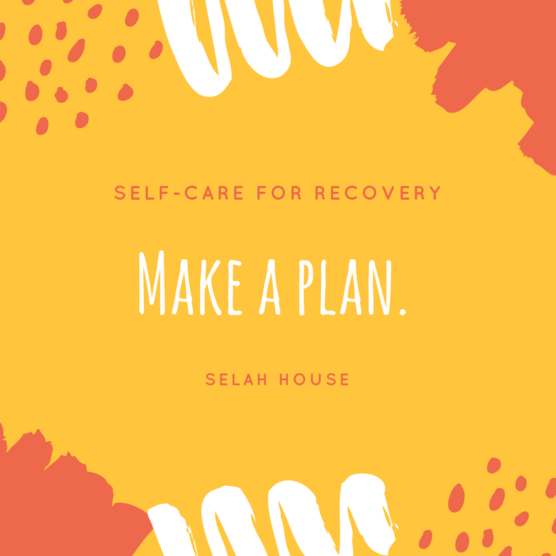 Making a plan is a recommended self care activity for women and girls with eating disorders