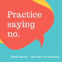 Text: Practice saying No
