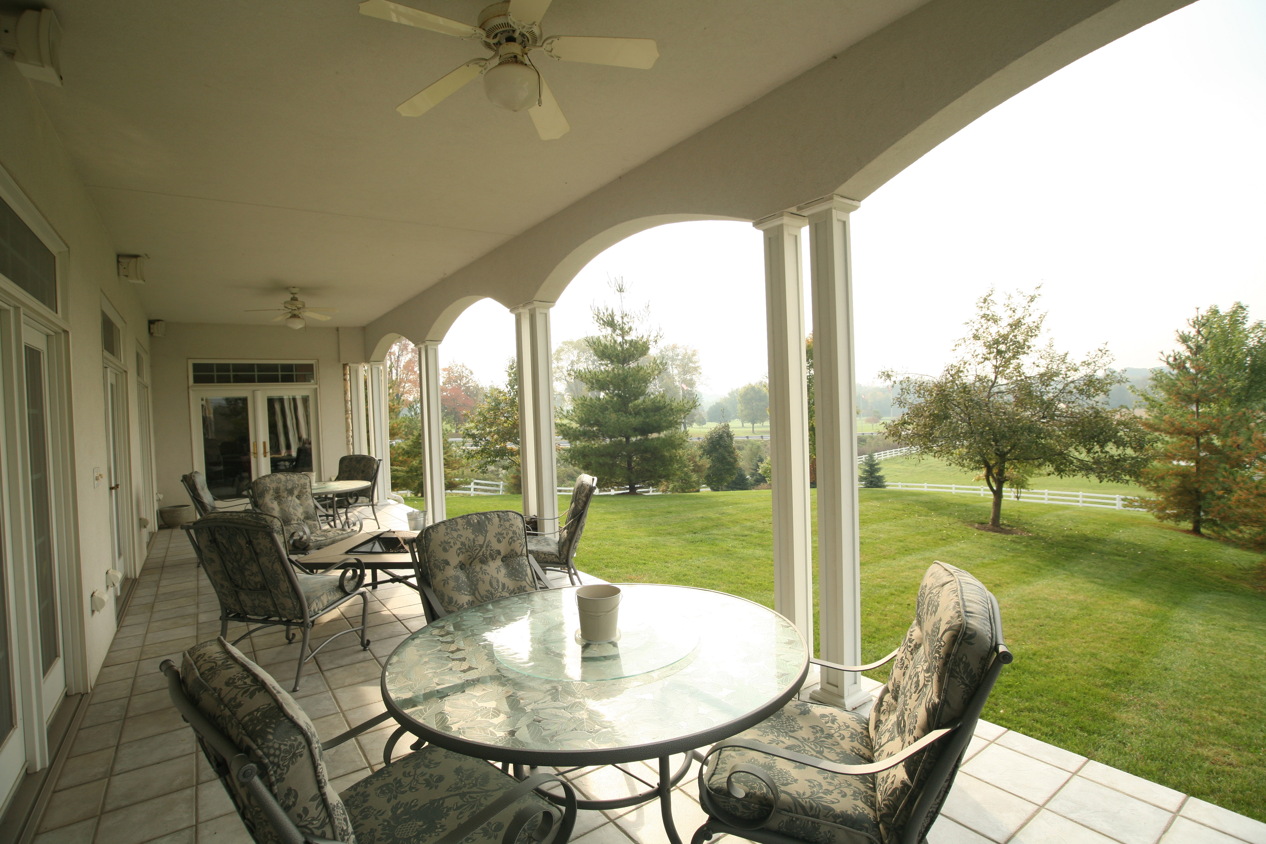 Partial Hospitalization Program Back Porch Overlooking Scenic Pastures