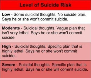 Levels of Suicide Risk